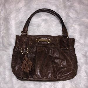 Juicy Couture- Chocolate leather handbag